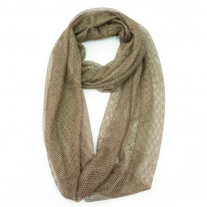 Mesh Polyester Infinity Womens Scarf - Brown by Giftcraft