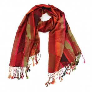 Polyester Pattern Scarf - Red by Giftcraft