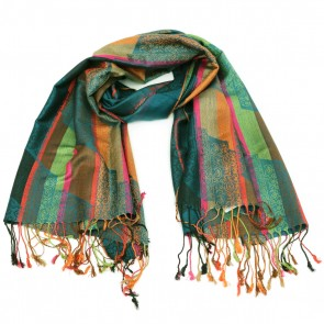 Polyester Pattern Scarf - Green by Giftcraft