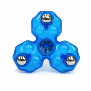 Spinfinity Crystal Clear Anti-Stress Fidget Spinner - Blue
