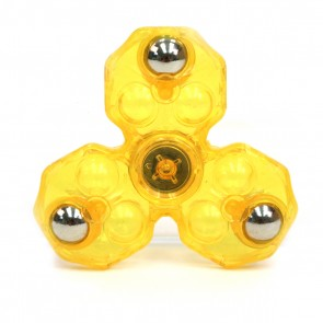 Spinfinity Crystal Clear Anti-Stress Fidget Spinner - Yellow