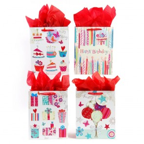 "FLOMO Large ""Birthday Happiness"" Gift Bags"