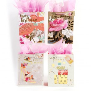 "FLOMO Large ""Big Flower Birthday"" Gift Bags"