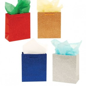 "Large ""Glamour"" Glitter Glossy Gift Bags"