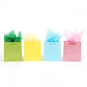 Medium Marvelous Glitter Gift Bags - Assorted