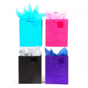 """Large """"Glowing"""" Glitter Glossy Gift Bags"""