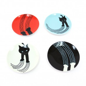 Naughty Cat Mini Plate Set