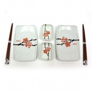 MIYA Red Plum Sushi Set