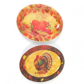 Oval Thanksgiving Turkey Serving Dish