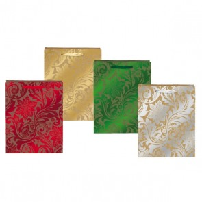 Large Holiday Leaves Gift Bags
