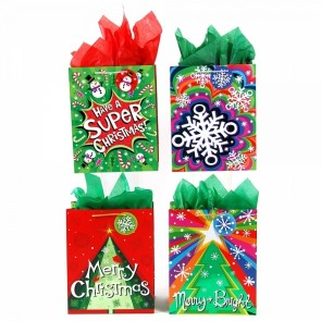 "FLOMO Large Hot Stamp ""Bold Christmas"" Gift Bags"