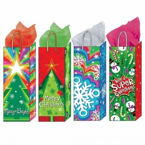 "FLOMO Hot Stamp ""Bold Christmas"" Bottle Bags"