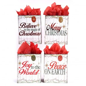 "Extra Large ""Starlight Christmas"" Hot Stamping Gift Bags by FLOMO"