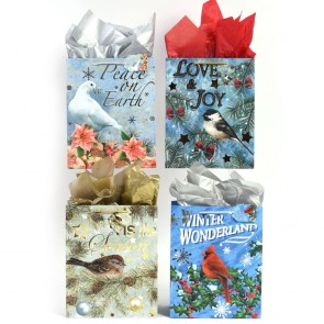 "Large ""Wonderful Winter"" Hot Stamping Christmas Gift Bags by FLOMO"