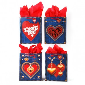 Large 'Denim Valentine' Gift Bags