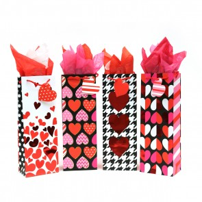 Hot Hearts Bottle Gift Bags