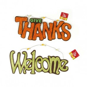 Hanging Greeting Plaque - Thanksgiving