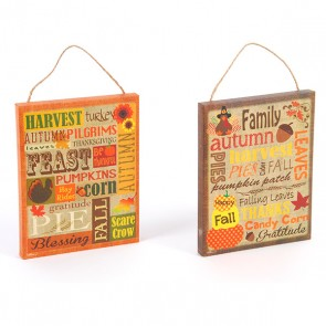 Thanksgiving Vertical Plaques - Assorted