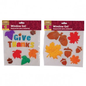 Thanksgiving Window Gel Clings - Assorted