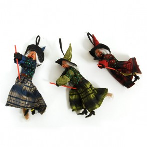 Hanging Witch Decoration - Assorted