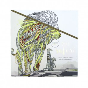 On Safari Adult Coloring Book