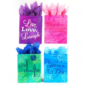 FLOMO Extra Large 'Inspired!' Gift Bags