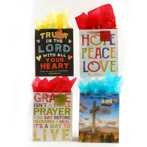 FLOMO Large Christian 'Faithful Thoughts' Gift Bags