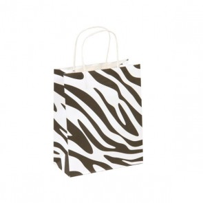 Euro Medium Zebra Kraft Bag