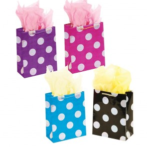 Large Hologram Polka Dot Gift Bags by FLOMO
