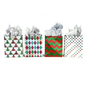 """Large """"Geometric Holiday"""" Christmas Gift Bags by FLOMO"""