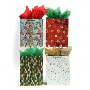 """Large """"Hologram Holiday"""" Christmas Gift Bags by FLOMO"""