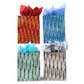 Large Hologram Stripe Party Gift Bags by FLOMO