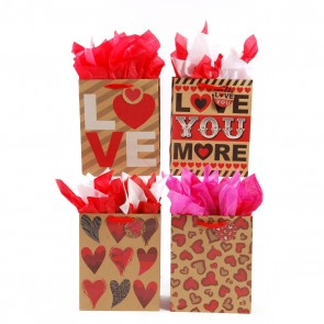Large 'Love Is A Kraft' Kraft Gift Bags
