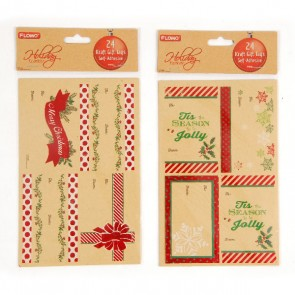 Christmas Hot Stamping Kraft Sticky Gift Tags