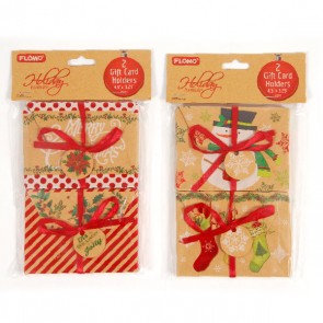Christmas Kraft Gift Card Holders