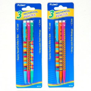 Mechanical Pencils with Printed Barrel Designs by FLOMO