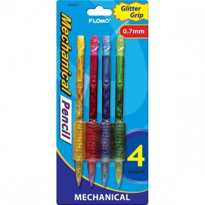 Mechanical Pencils with Glitter Grip by FLOMO