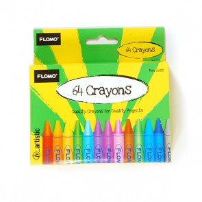 Flomo 64 Pack of Crayons