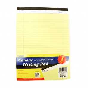 50 Sheets Legal Canary Pad