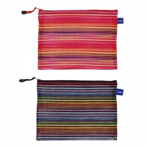 FLOMO Large Rainbow Stripes Zipper Pouch