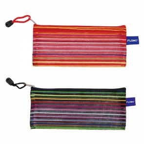 FLOMO Rainbow Stripes Zipper Pouch