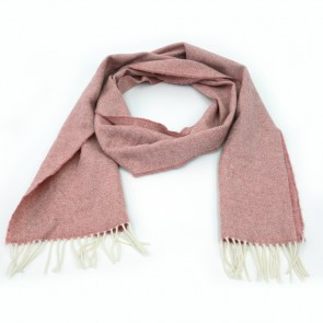 McNutt of Donegal Blossom Herringbone Wool Scarf