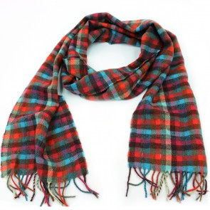 McNutt of Donegal Bittersweet Checkered Wool Scarf