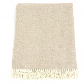 McNutt of Donegal Basewood Herringbone Wool Throw