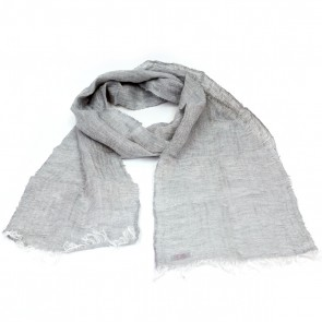 McNutt of Donegal Dove Herringbone Linen Scarf