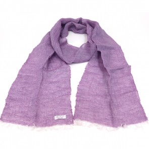 McNutt of Donegal Lilac Boxed Linen Scarf