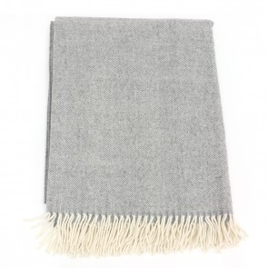 McNutt of Donegal Uniform Grey Wool Throw
