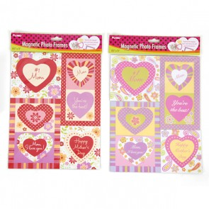 #1 Mom Magnetic Heart Photo Frames