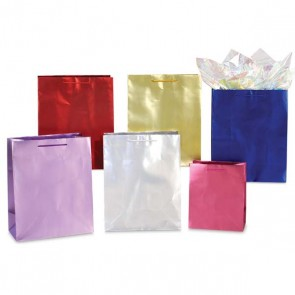 Large Shiny Bright Classic Metallic Gift Bags