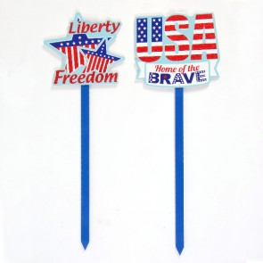 "21"" Patriotic Yard Sign"